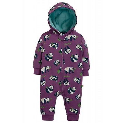 Frugi Snuggle Suit - Peekaboo Pandas