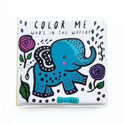 Wee Gallery Colour Me Bath Book - Who's in the Water?