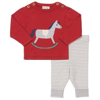Kite Organic Cotton Knitted Rocking Horse Set
