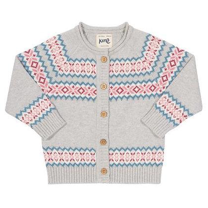 Kite Knitted Organic Cotton Cardigan - Fair Isle