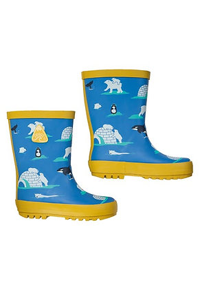 Frugi Puddle Buster Wellington Boots - Polar Play