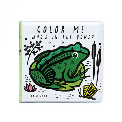Wee Gallery Colour Me Bath Book - Who's in the Pond?
