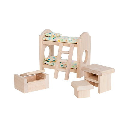 Plan Toys Dolls House Accessory - Children's Bedroom 9502