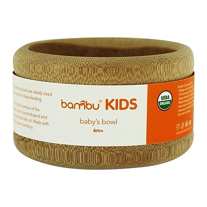 Bambu Organic Bamboo Baby Bowl 6m+