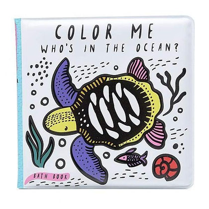 Wee Gallery Colour Me Bath Book - Who's in the Ocean?