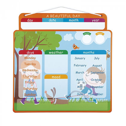 Janod English Magnetic Calendar - Beautiful Day