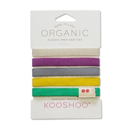 KOOSHOO Plastic Free Hair Ties Pack of 5