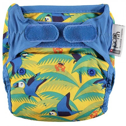 Pop-in New Gen V2 Single Printed Nappy +bamboo - Endangered Animal Collection