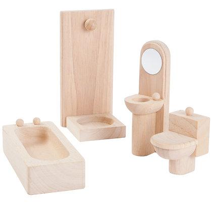 Plan Toys Dolls House Accessory - Bathroom 9014