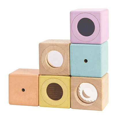 Plan Toys Pastel Sensory Blocks