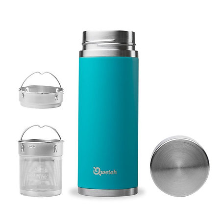 Qwetch Insulated Stainless Steel Infuse Flask 300ml - Turquoise