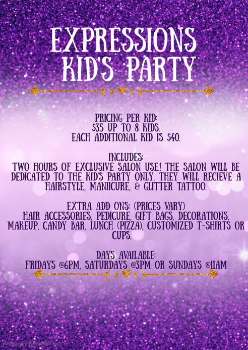 KID'S PARTIES ARE BACK!!!!!!