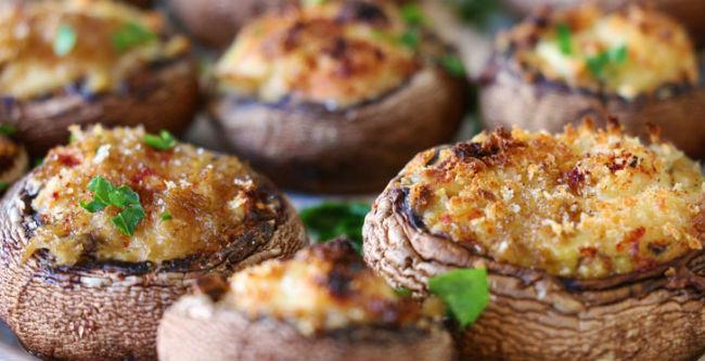 10 receitas de Cogumelos Recheados no Forno – Leves e Gostosos - por Dra. Patricia (Mundo Boa Forma)