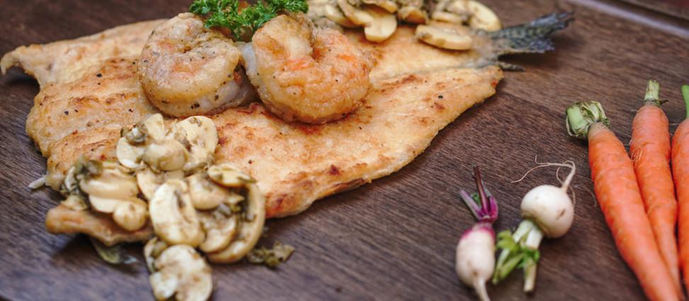 Truta na brasa servida com legumes e cogumelos - Por Olivier (GNT)