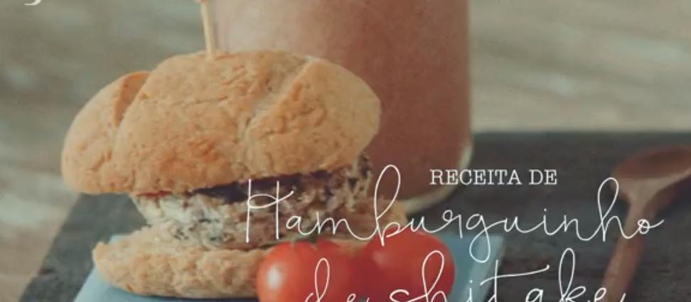 Receita de hambúrguer vegano com shitake - Por Alana Rox (GNT)