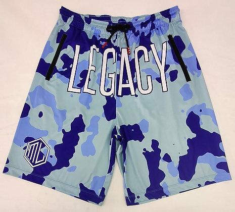 Blue Camo Legacy Shorts