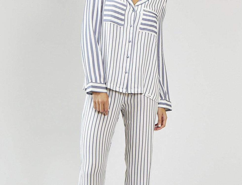 Haddon Stripe Set - Grey/Ecru