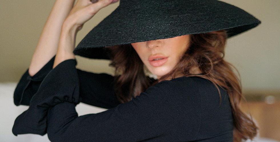 Riri Jute Hat -  Black