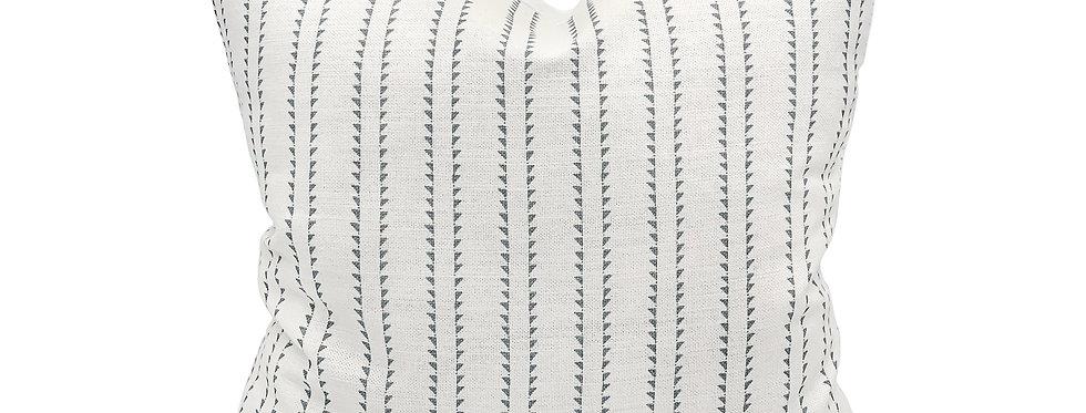 Rock Grey Stripe Pillow Cover