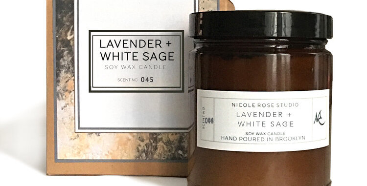 Lavender + White Sage Soy Wax Candle