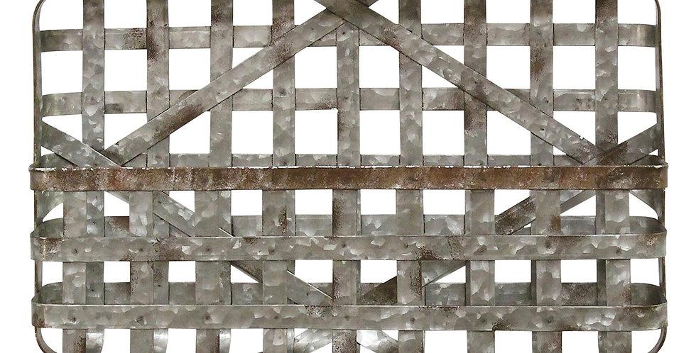 Villandry Galvanized Metal Wall Basket