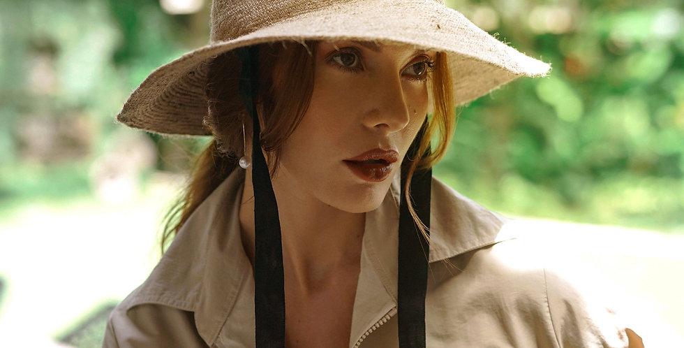 Meg Jute Hat - Nude