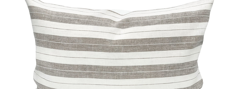 Merryl Linen Stripe Lumbar Pillow Cover