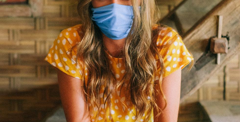 Maskana UV50 Gaiter Face Mask - Periwinkle Blue
