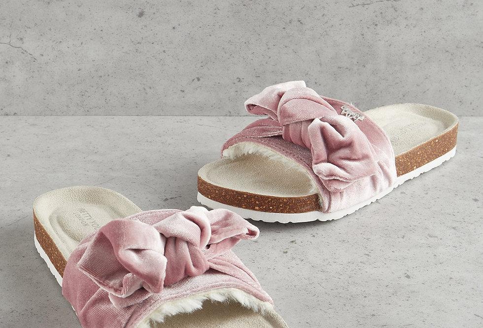 Laila Velour Slippers