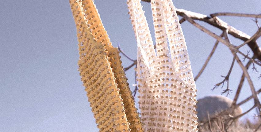 Kama Wooden Beads Crochet Bag - Pale Yellow