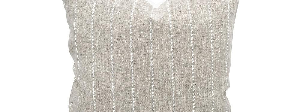 White Bride Stripe Pillow Cover