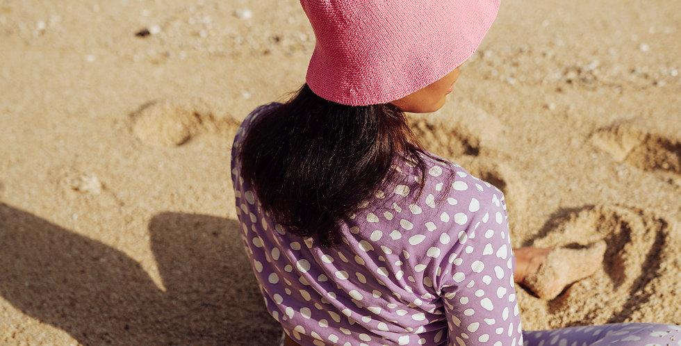 Florette Crochet Bucket Hat - Pink