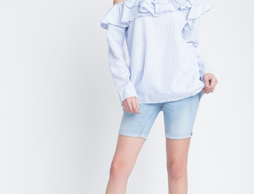 The Hetty Stripe Ruffle Top