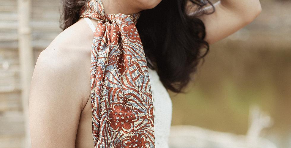 Cempaka Silk Batik Scarf