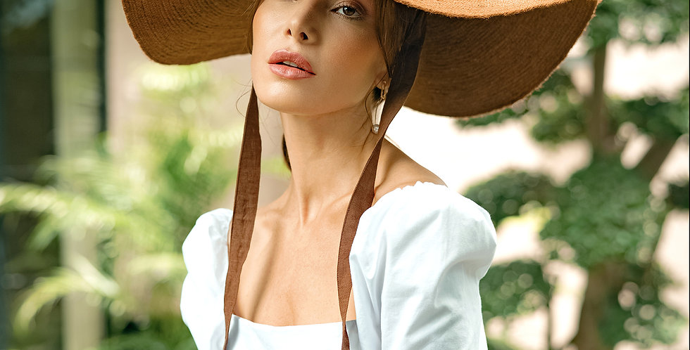 Lola Jute Hat - Havana Brown