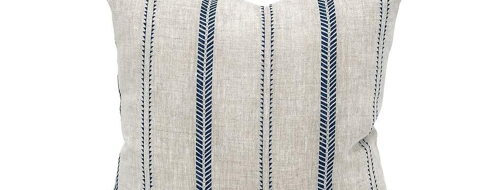 Camille Stripe Linen Pillow Cover