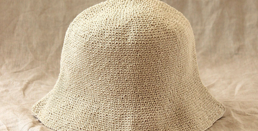 The Bucket Hat - Nude White