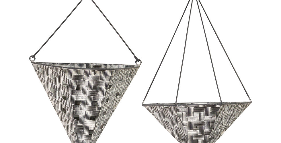 Aubrey Metal Hanging Planters - Set 2