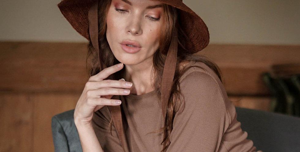 Meg Jute Hat - Burnt Sienna