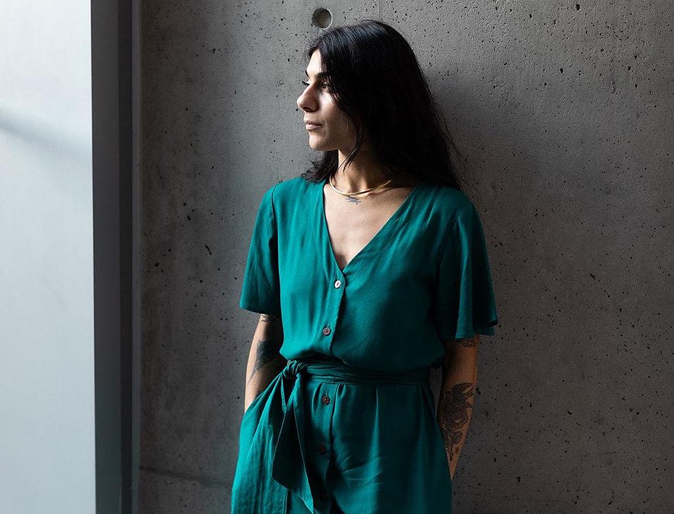 Keandra Dress - Emerald