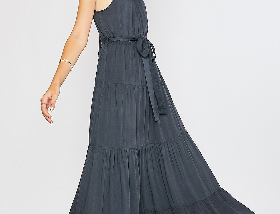 The De Gudane Halter Dress - Slate
