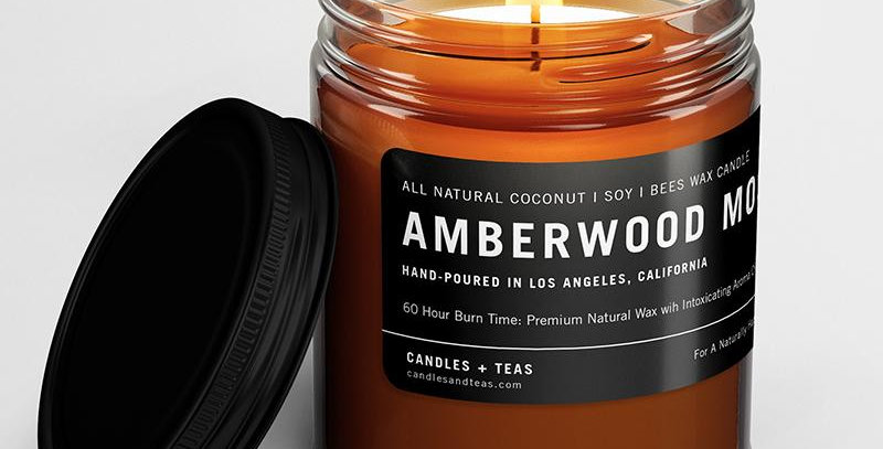 Amberwood Moss - Coconut Soy Bees Wax Candle