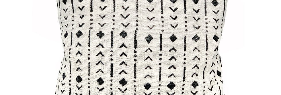 Black Rhombs Pillow Cover