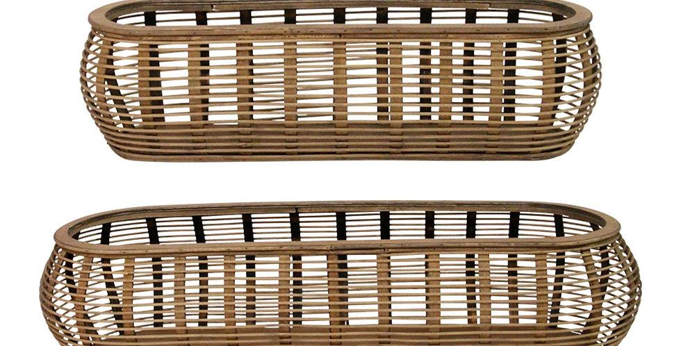 Serret Bamboo Baskets - Set 2