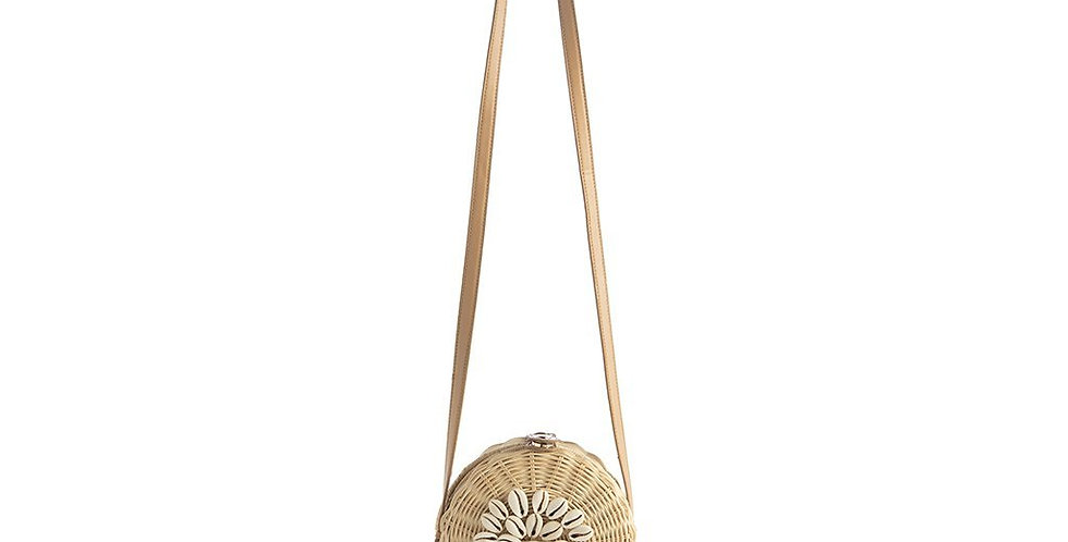 Bali Round Crossbody Bag - Natural