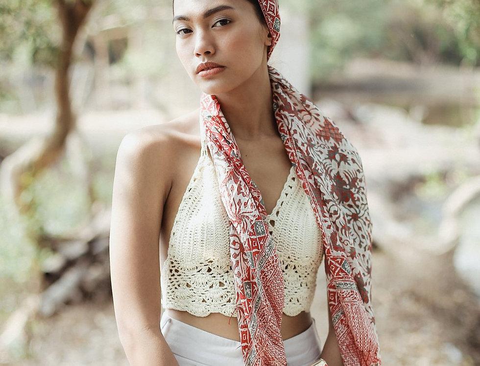 Chili Padi Silk Batik Scarf