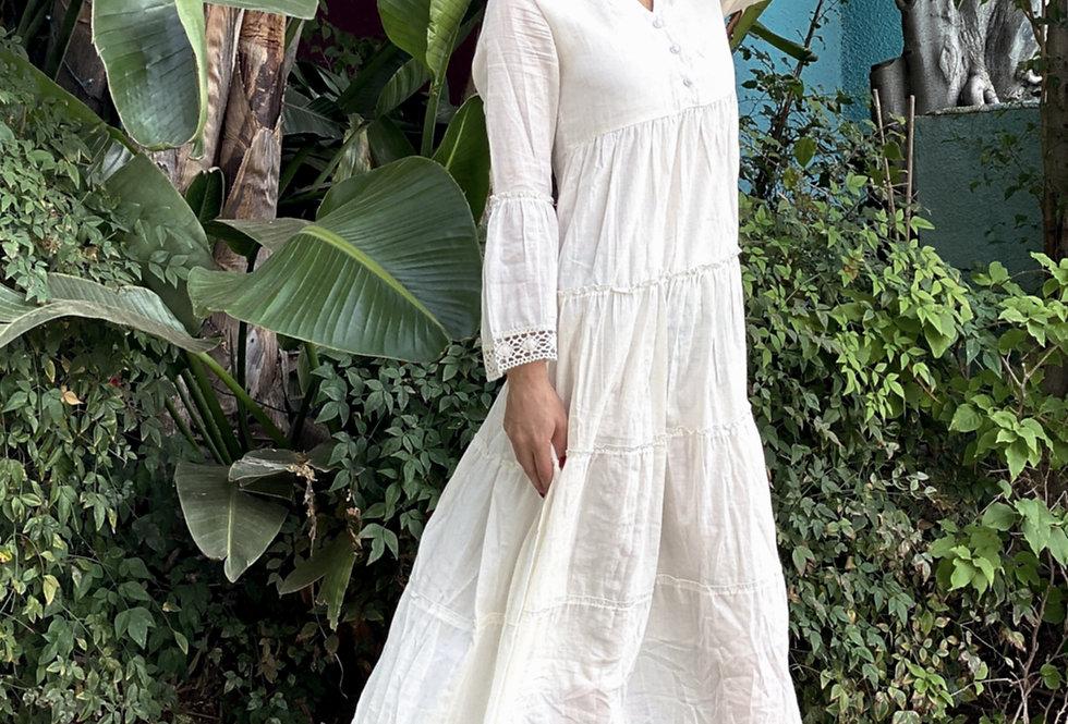Mika Maxi Dress - White