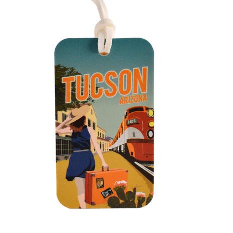 Tucson Train Luggage Tag
