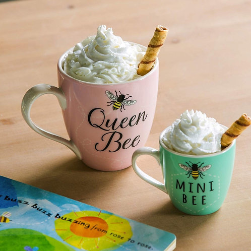 Queen Bee and Mini Bee Mug Set