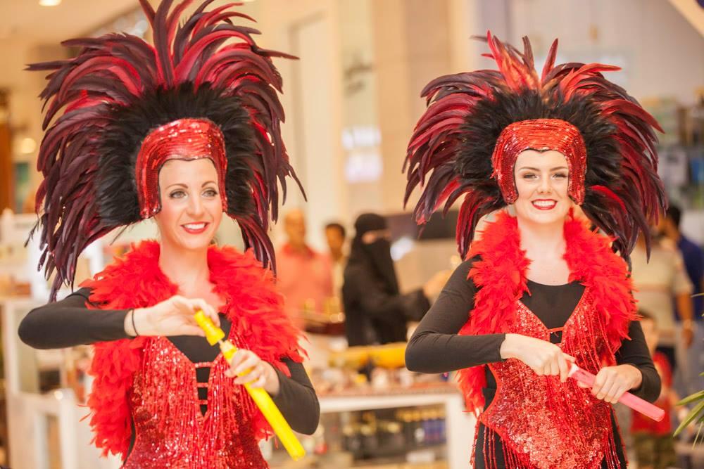 Circus Showgirls MGM Mall, Muscat